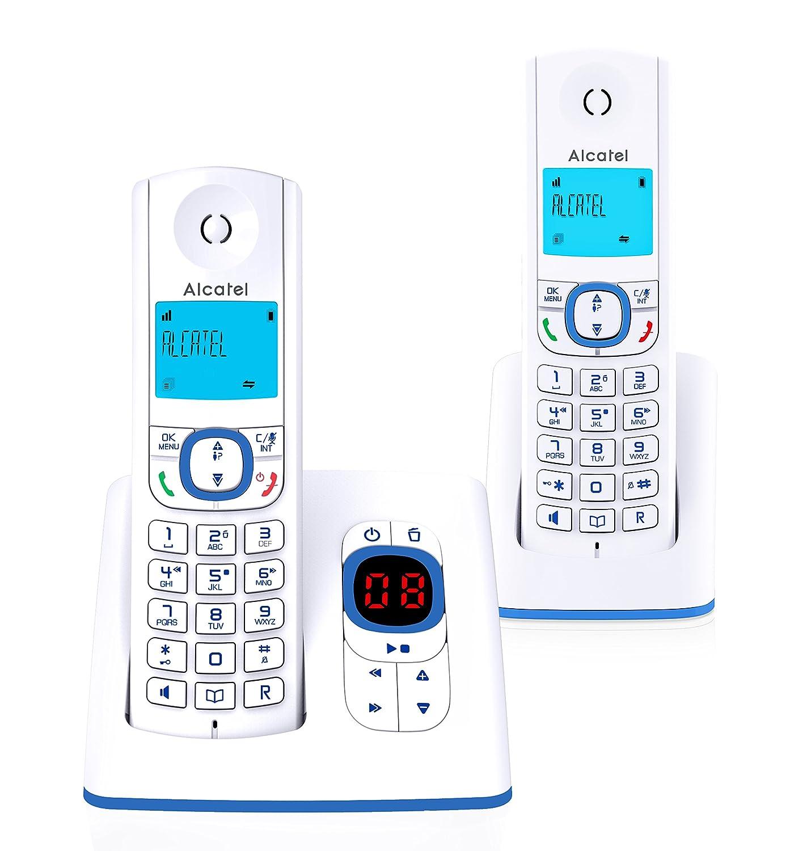 Alcatel F530 Té lé phone sans Fil Ré pondeur avec Un combinent supplé mentaire Bleu 3700601417081