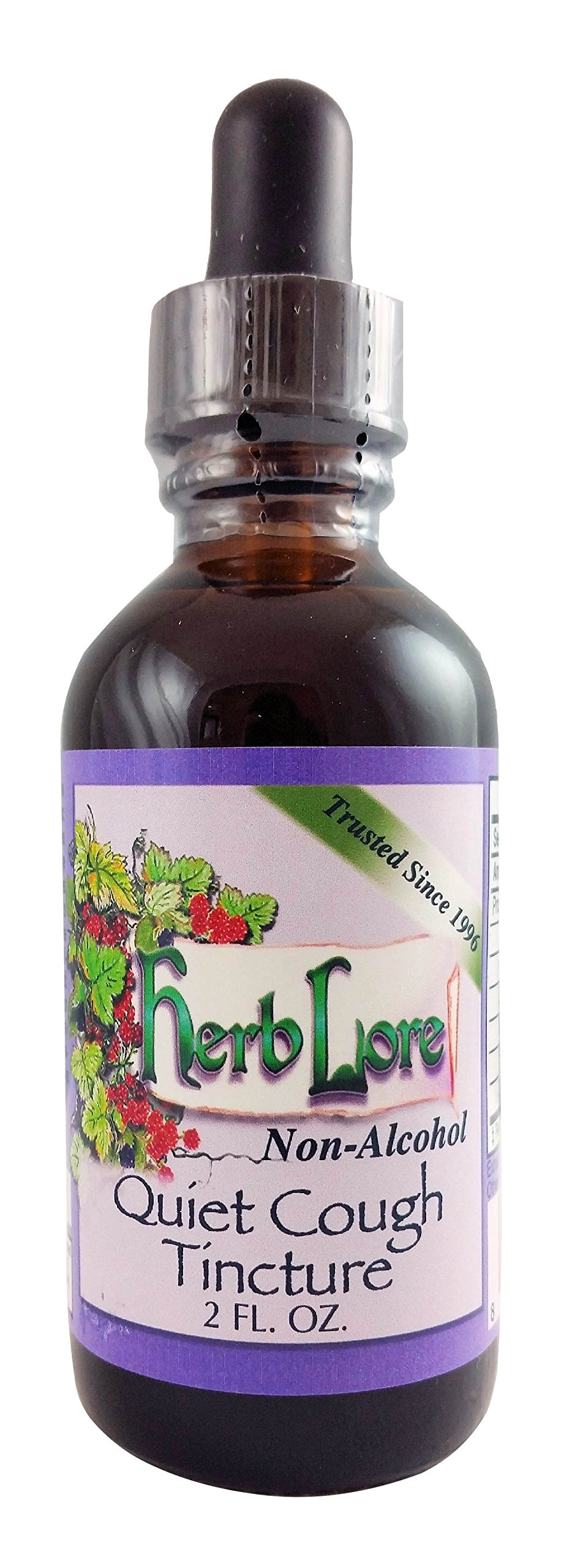 Herb Lore Organic Quiet Cough Tincture - Non-Alcohol (2 Ounce) - All Natural Herbal Cough Medicine for Children and Adults