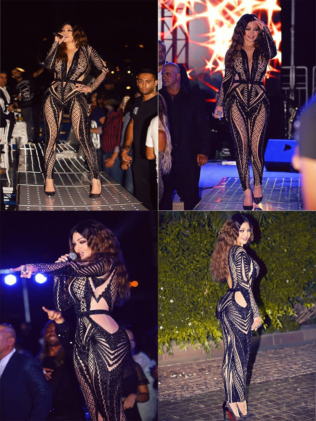 Tina Beauty Sexy Nude Mesh Black Sequins Zip Back Long Sleeve Jumpsuits Small by Tina Beauty (Image #7)