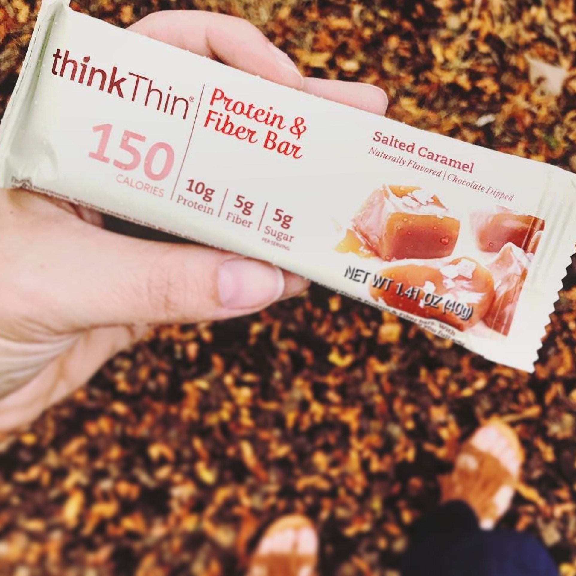 thinkThin Protein & Fiber Bars, Salted Caramel, 1.41 Ounce (20 Count) by thinkThin (Image #4)