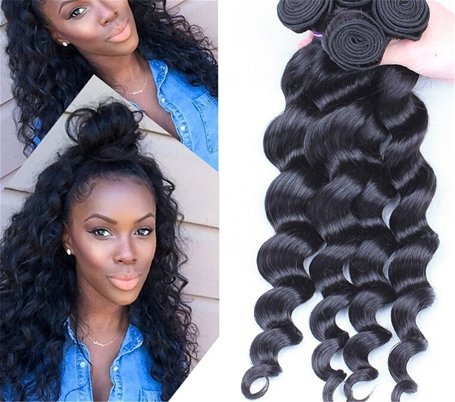 Amazon Mixed Length 20 22 24 Loose Wave Brazilian Virgin