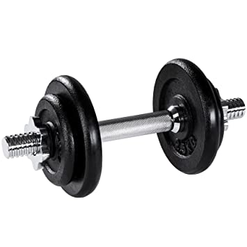 TecTake Mancuerna con pesas halteras de fitnes acero hierro musculación gimnasio - varios modelos - (10kg | no. 402363): Amazon.es: Deportes y aire libre