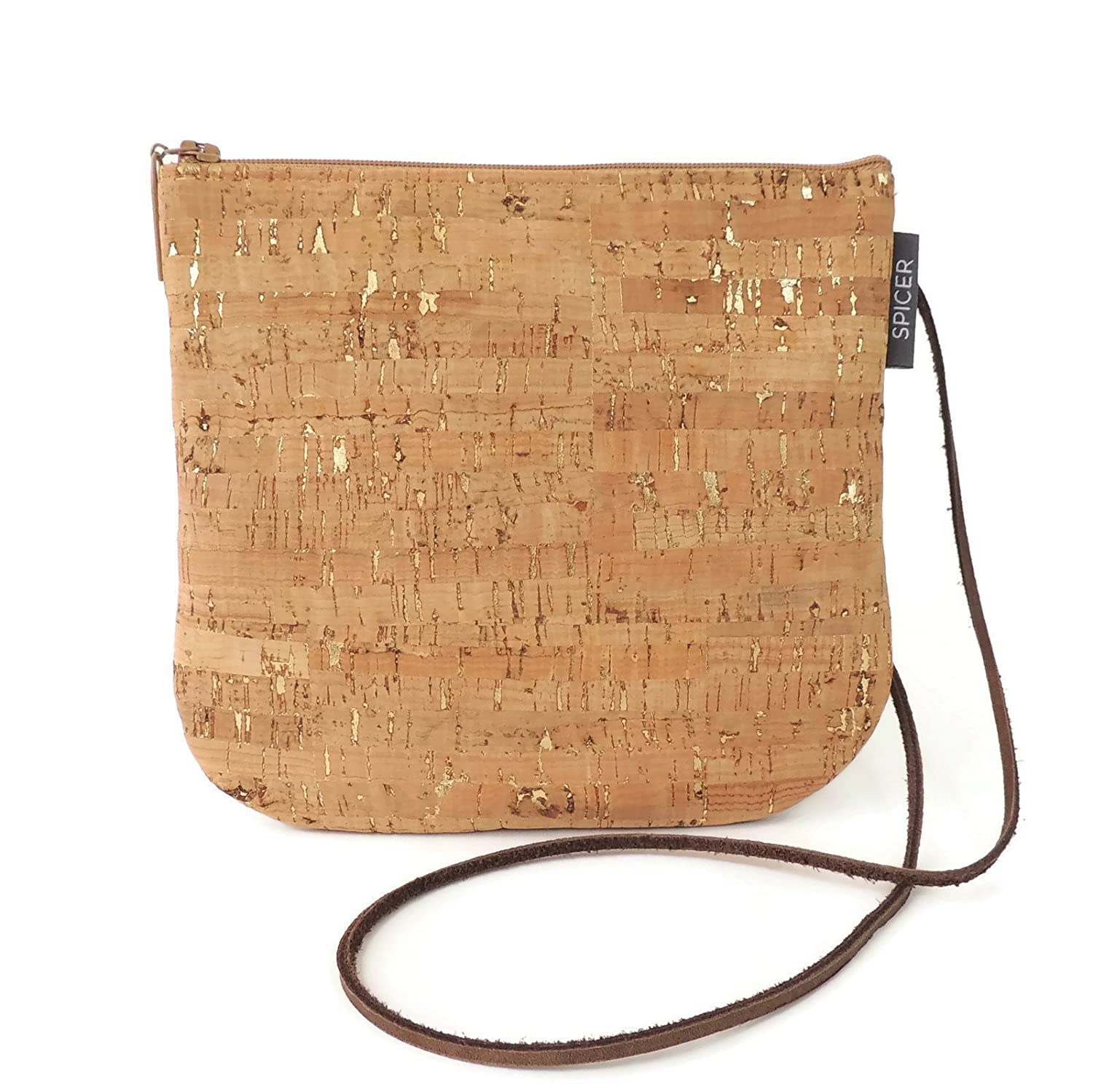 Mini Cross-body Bag in Gold Flecked Cork