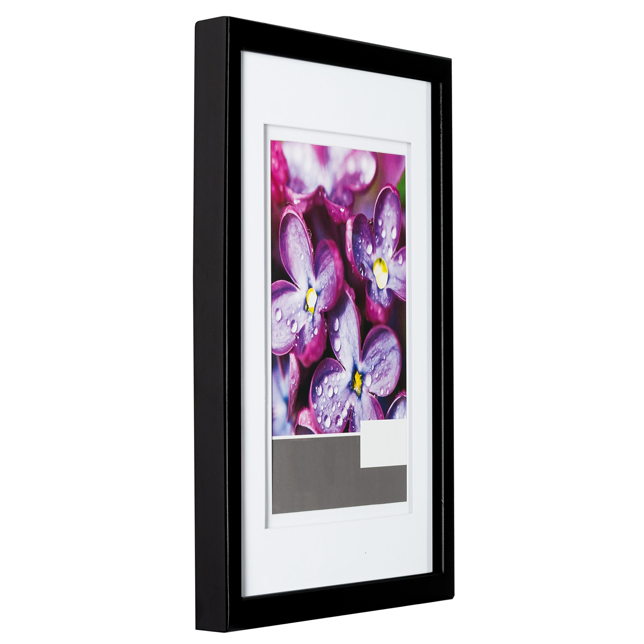 Gallery Solutions 14x18 Black Wood Wall Frame With Double
