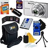 Sony Cyber-shot DSC-W830 20.1 MP Digital Camera with 8x Zoom & Full HD 720p Video (Silver) - International Version (No Warranty) + NP-BN1 Battery + 8pc 16GB Accessory Kit w/ HeroFiber Cleaning Cloth