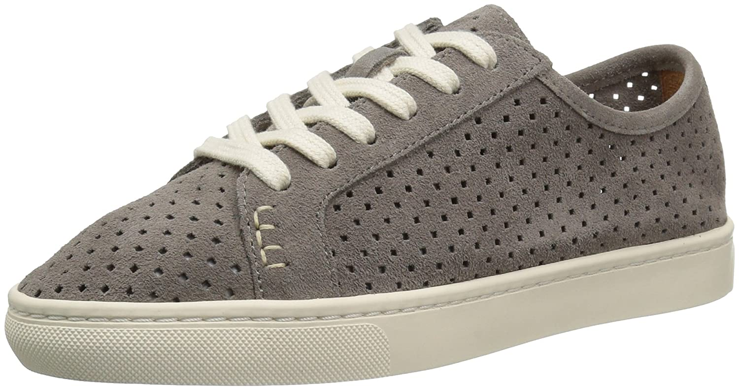 Soludos Women's Perforated Lace up Sneaker Flat B01N0C4JBJ 5 B(M) US|Dove Gray