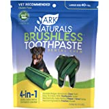 Ark Naturals Brushless Toothpaste for Large Breeds, Vet Recommended Natural Dental Chews for Dogs, Plaque, Tartar & Bacteria