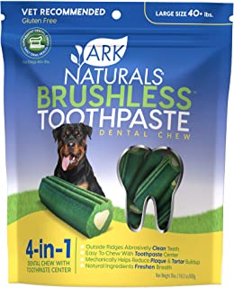 product image for Ark Naturals Brushless Toothpaste for Large Breeds, Vet Recommended Natural Dental Chews for Dogs, Plaque, Tartar & Bacteria Control, Packaging May Vary