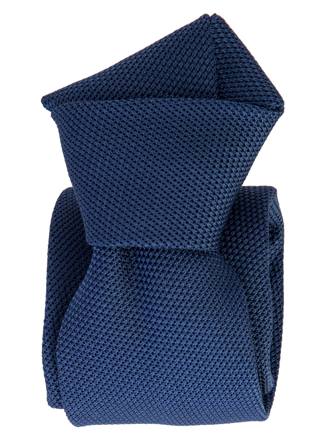 Elizabetta Men's Italian Silk Grenadine Tie, Extra Long, Solid Blue, Handmade