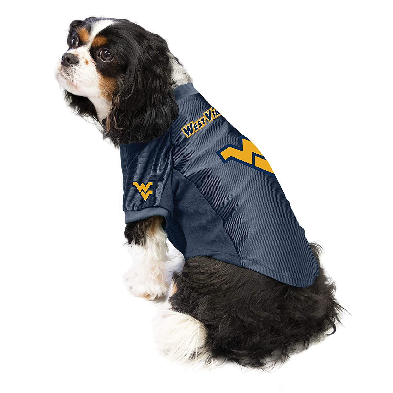 Littlearth NCAA West Virginia Mountaineers Pet Stretch Jersey Medium