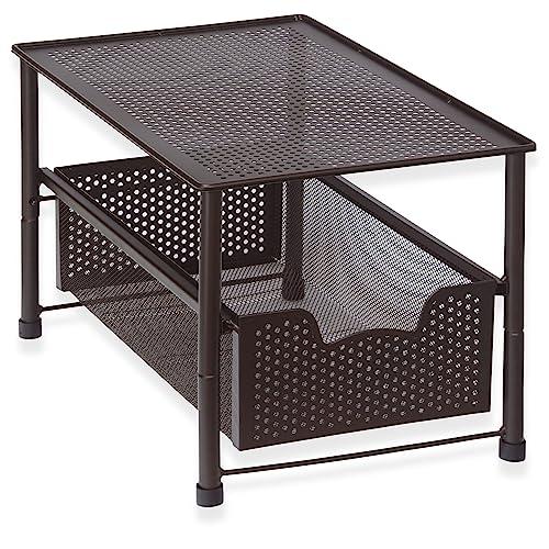 New Cabinet Organizer Sliding Kitchen Under Storage Drawer: Kitchen Countertop Organizer: Amazon.com