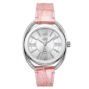 4fd86697e39 JBW Luxury Women s Gigi Diamond Wrist Watch with Pink Leather Bracelet