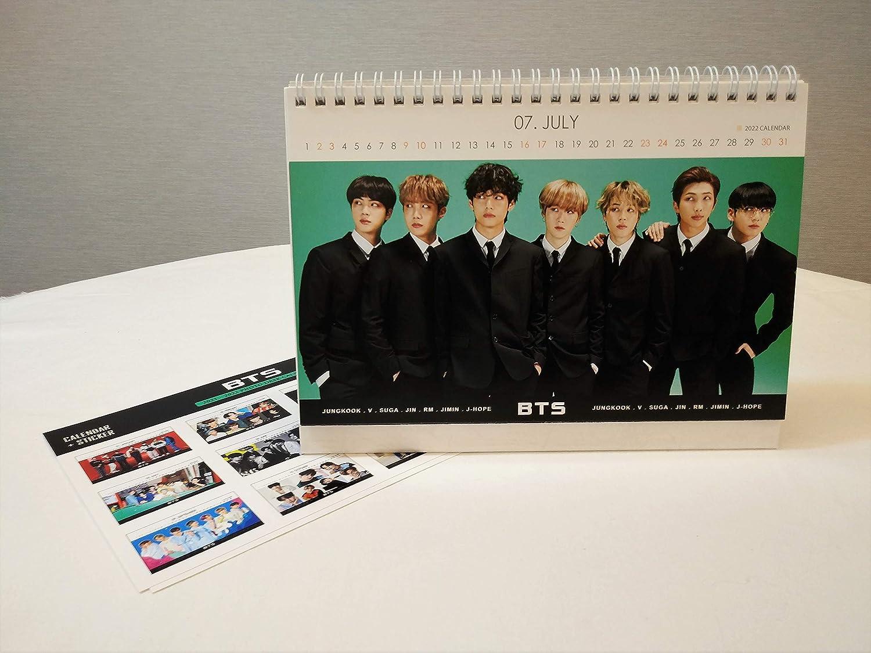 New BTS Desk Calendar 2021-2022 with Stickers Set White