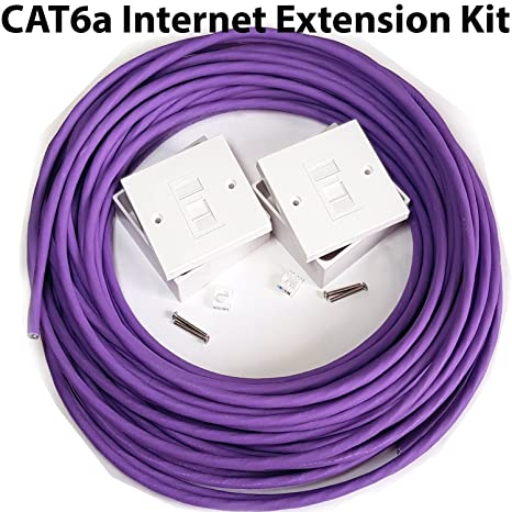 25m CAT6a Router/Internet Extension Kit - Indoor Low: Amazon ... on