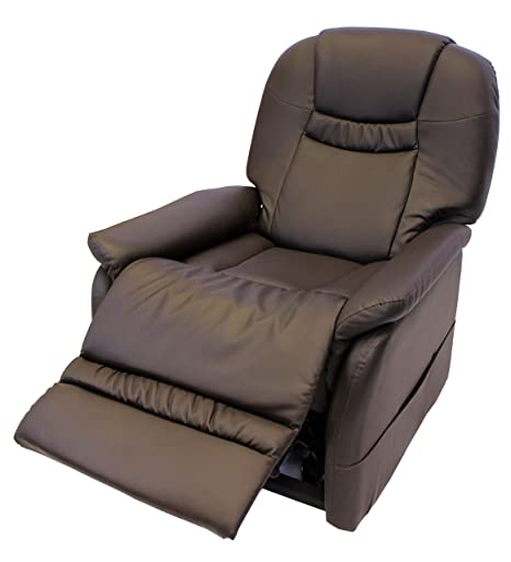 Phenomenal Dream Comfort Leather Electric Rise And Recline Mobility Recliner Arm Chair Brown Lamtechconsult Wood Chair Design Ideas Lamtechconsultcom