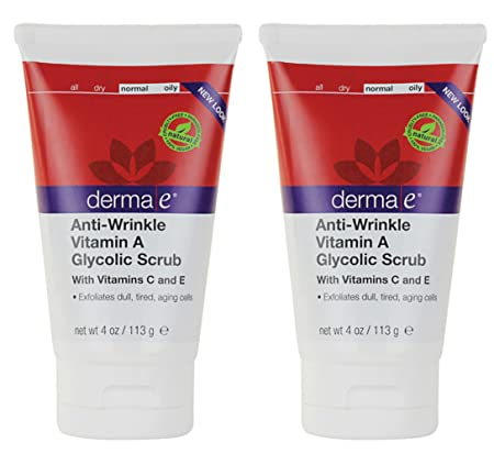 derma e Anti-Wrinkle Vitamin A Glycolic Scrub, 4-Ounce Pack 2
