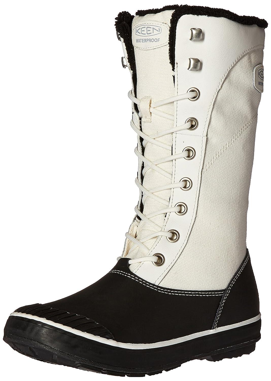 Keen - Zapatos de cordones de Piel para mujer blanco Star White/Black 10.5|Star White/Black
