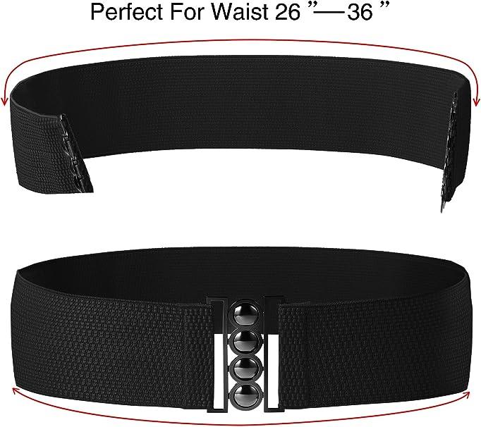 Chuangdi Cinghie Larghe Gancio Plus Cintura Elastica in Vita Corsetto a Cintura Cinture Elastiche