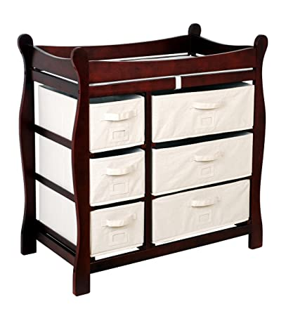 Attractive Amazon.com : Badger Basket Baby Changing Table With Six Baskets, Espresso :  Baby