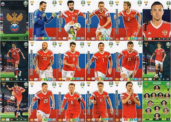 Panini Adrenalyn XL UEFA Euro 2020 Completo Dieciocho (18) Tarjeta Rusia Equipo Set - Euros: Amazon.es: Juguetes y juegos