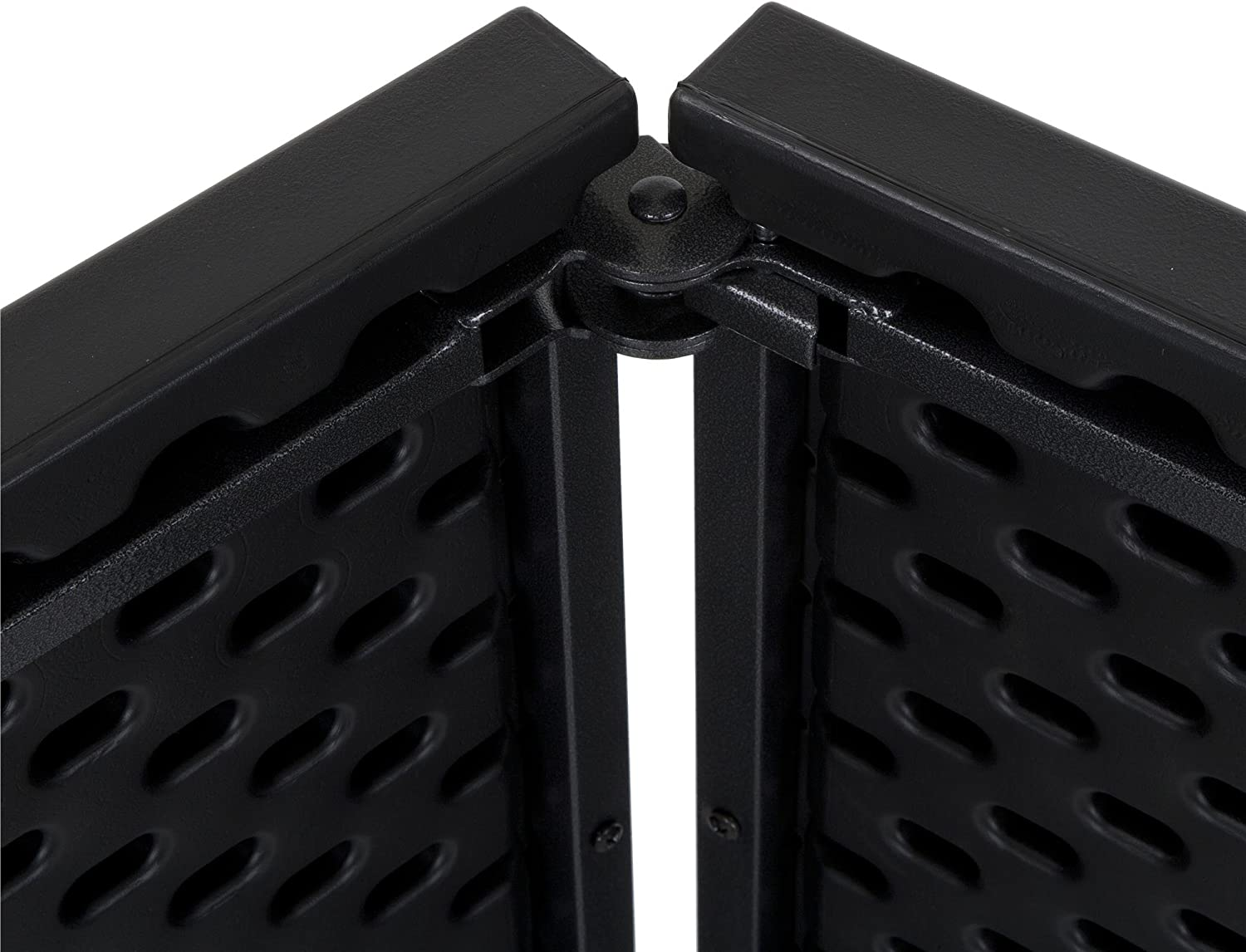 2 Pack Cosco Deluxe 6 Foot x 30 inch Fold-in-Half Blow Molded Folding Table Black