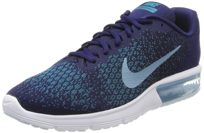 Nike Herren Air Max Sequent 2 Gymnastikschuhe  44.5 EU|Blau (Binary Blue/Black/Blustery Cerulean)