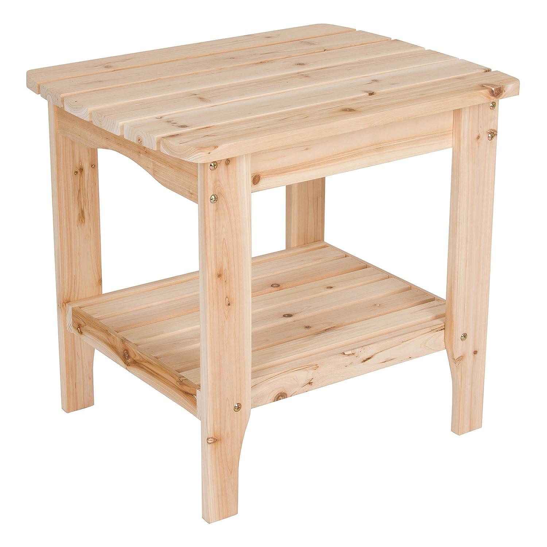 Amazon.com: Shine Company Cottage rectangular mesa auxiliar ...