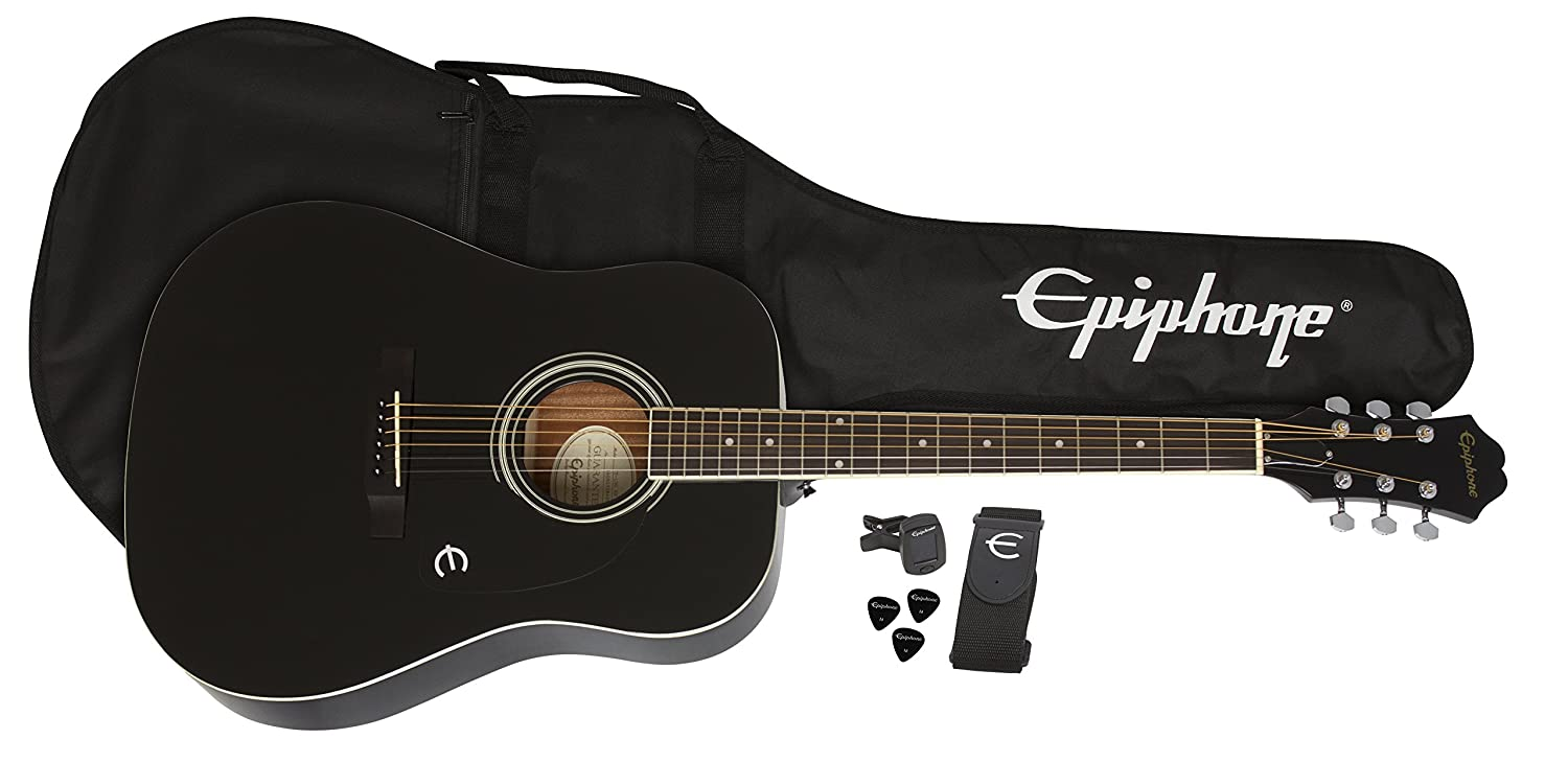 Epiphone FT-100 Acoustic Guitar Player Pack, Vintage Sunburst PPAG-EAFTVSCH3