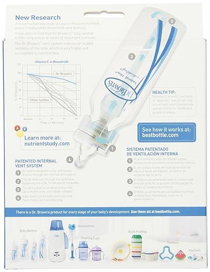 Amazon.com : Dr. Browns BPA Free Polypropylene Natural Flow Standard Neck Bottle : Baby Bottles : Baby