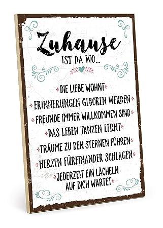 Typestoff Holzschild Mit Spruch Zuhause Schild Bild Im Vintage