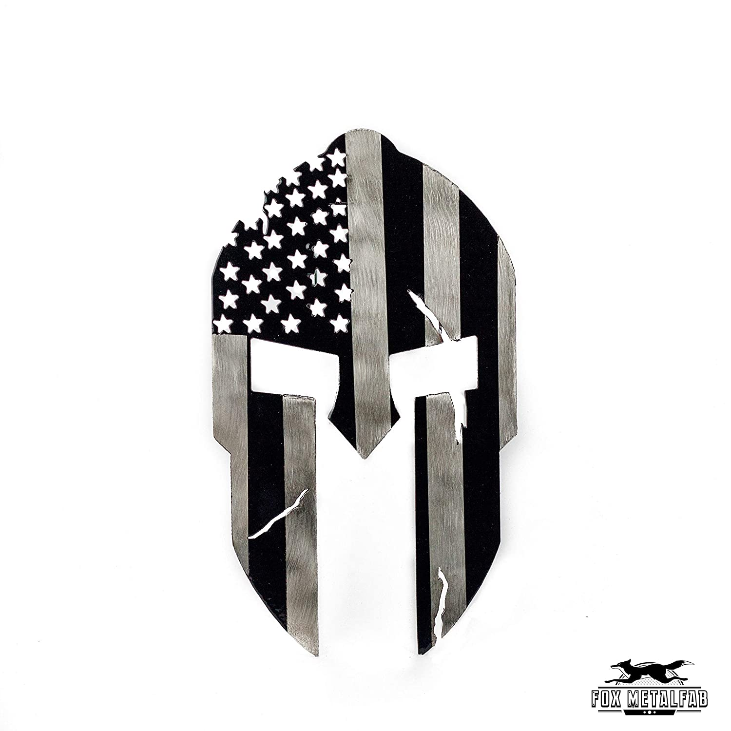 Fox MetalFab Hitch Cover//Receiver//Powder Coated Steel//USA US Subdued American Spartan Flag