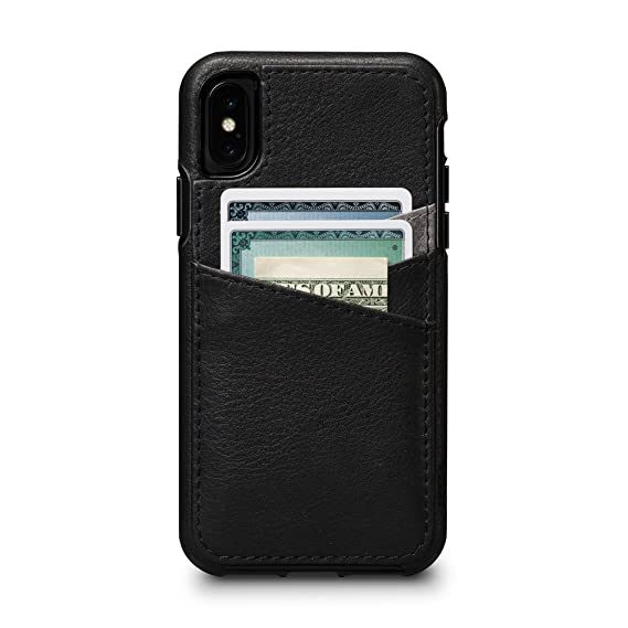 new styles 277d9 93c6d Sena Bence Lugano Wallet Leather Cell Phone Case For Iphone X Xs - Black