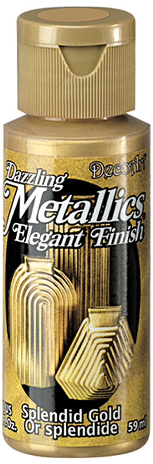 Deco Art Americana Acrylic Metallic Paint, Splendid Gold DecoArt CLDA263-2OZ