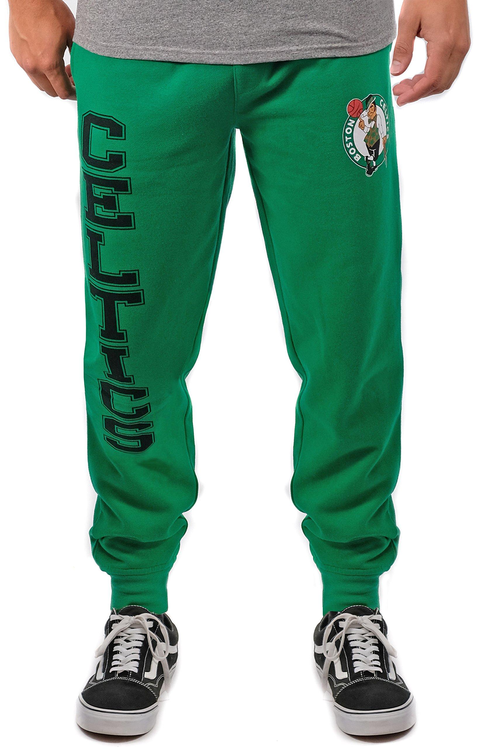 11ef19429 Galleon - NBA Boston Celtics Men s Jogger Pants Active Basic Soft Terry  Sweatpants