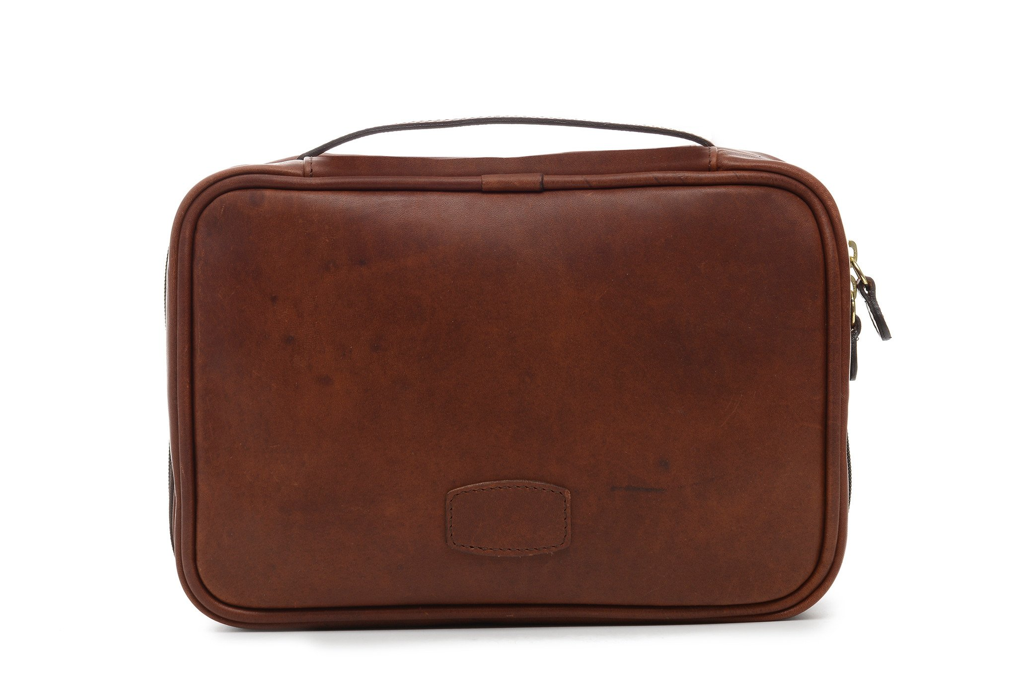 Korchmar Quinton Leather Hanging Toiletry Case, Travel Kit in Espresso