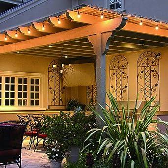 Guirnaldas Luces Exterior 30 metros, Bomcosy S14 Cadena de Luz Exteriores Cadena de Bombillas con 30+2 LED Bombillas Perefcto para Fiesta Boda Jardín Patio Cafe: Amazon.es: Iluminación