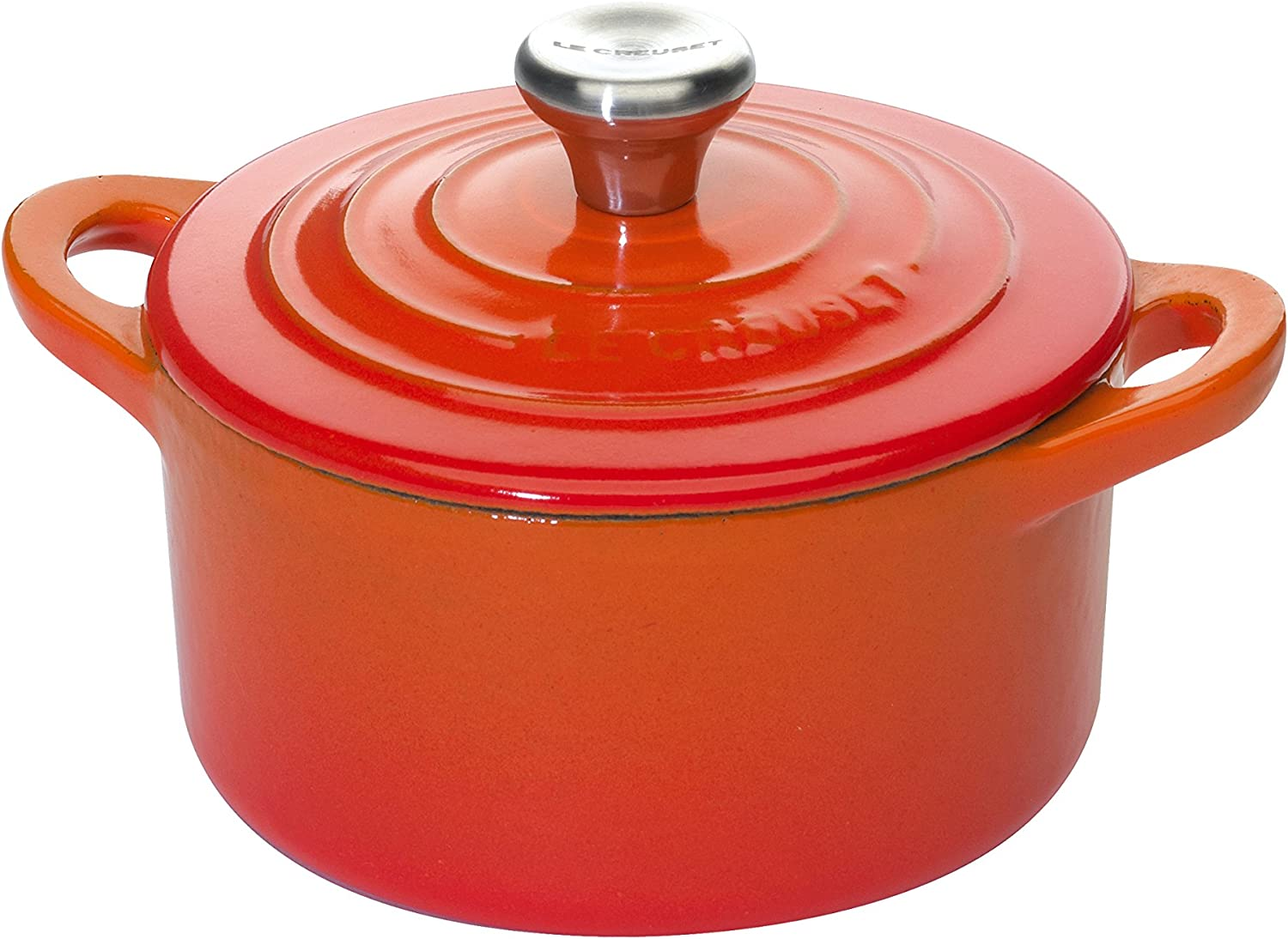 Le Creuset L2501-10S2 Enameled Cast-Iron Mini Cocotte, 1/3-Quart, Flame