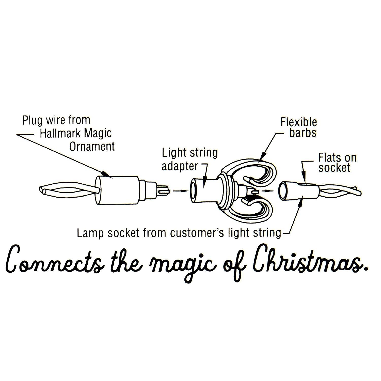 Hallmark Keepsake Christmas Ornament Light String Tree Lights Wiring Diagram On 3 Wire Adapter Accessory Home Kitchen