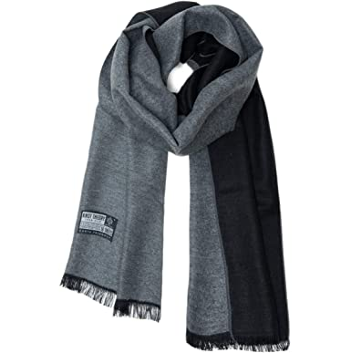 dafbb18c912 Knot Theory Silk Winter Scarf Softer than Cashmere - Black Grey for Men &  Women