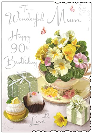 To A Wonderful Mum Happy 90th Birthday