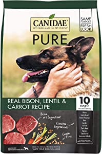 CANIDAE PURE Real Bison, Limited Ingredient, Grain Free Premium Dry Dog Food, 4 Lbs