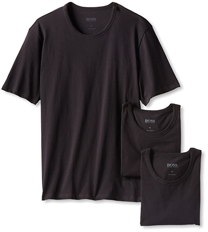 Amazon.com: BOSS HUGO BOSS Men's Cotton Crew-Neck T-Shirt (Pack of ...