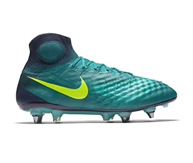 new arrival 04827 a856d Amazon.com   Nike Magista Obra II SG-Pro Mens Football Boots 844596 Soccer  Cleats (9, Rio Teal Volt Obsidian 375)   Soccer