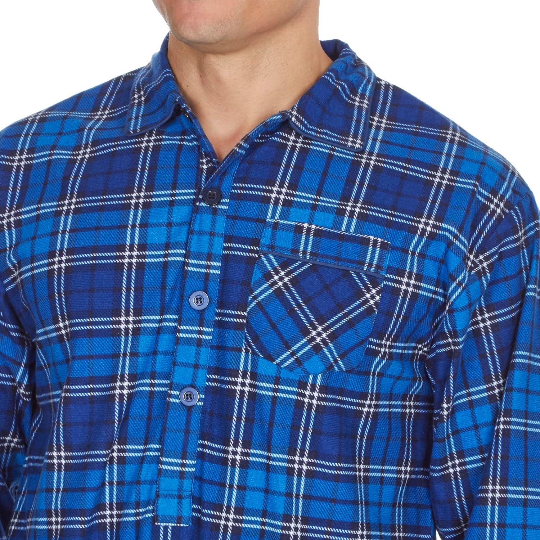 Lora Dora Strong Souls Mens Traditional Nightshirt Brushed Flannel Cotton Pyjamas