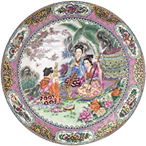 Bits and Pieces - 1000 Piece Round Puzzle - Melodious Garden, Geisha - - 1000 pc Jigsaw
