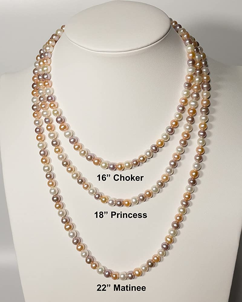 Feminine Wisdom Multicolored Pearl Necklace Earring Set Freshwater Pearls Native American Made #N7 Sterling Silver June Birthstone