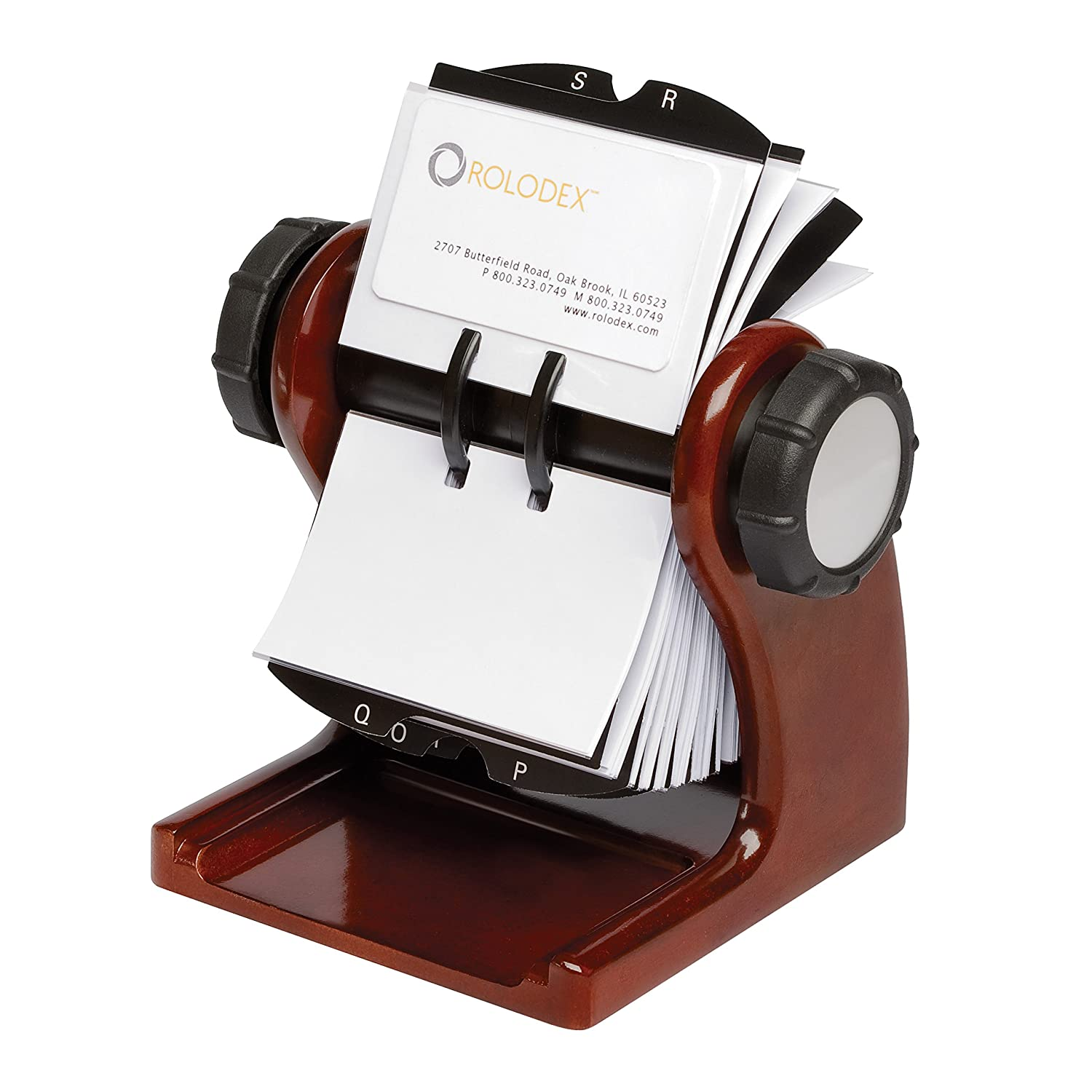 rolodex wood tones collection open rotary business