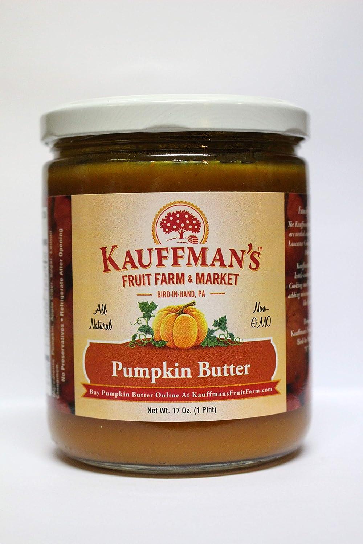 Kauffman's Homemade Pumpkin Butter, 17 Oz. Jar (Pack of 2 Jars)