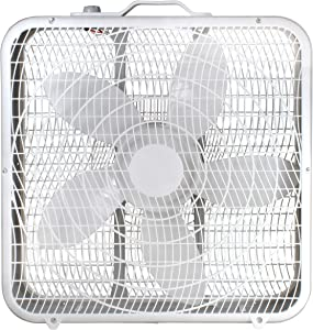 """Comfort Zone CZ200A 20"""" 3-Speed Box Fan for Full-Force Air Circulation with Air Conditioner"""