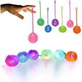 LED Jelly Spike YoYo Balls-12 Pack